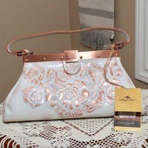 NEW PATRICIA NASH Copper Metallic Handbag